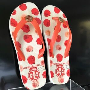 Tory Burch flip flops size 6 Orange